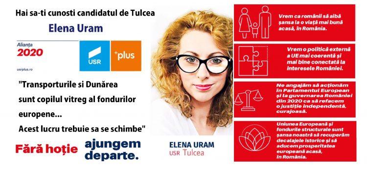 Obiectivele USR si ale candidatului tulcean Elena Uram la alegerile Europarlamentare.
