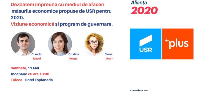 USR prezintă la Tulcea, viziunea economică din programul de guvernare