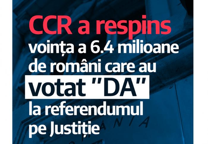"""USR va continua demersurile parlamentare pentru a transpune în Constituție rezultatele referendumului din 26 mai și inițiativa """"Fără penali în funcții publice"""""""